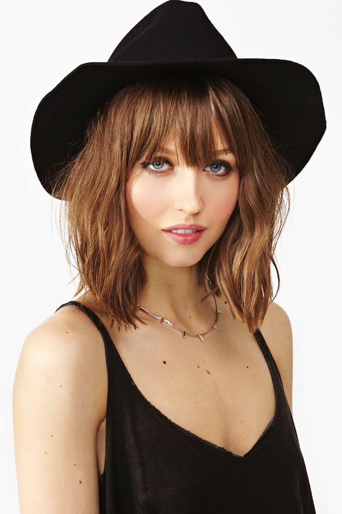 Stevie Wool Hat - Black  in  What's New Back In Stock at Nasty Gal