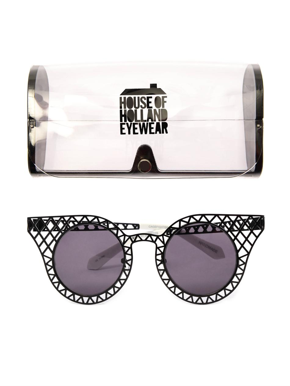 Cagefighter metal sunglasses | House Of Holland | MATCHESFASHI...