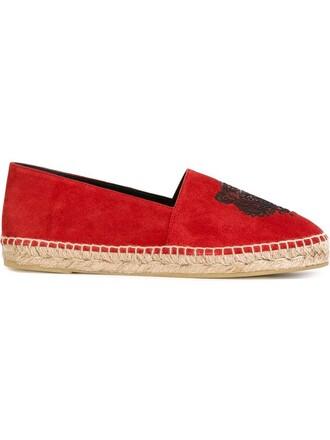tiger espadrilles red shoes