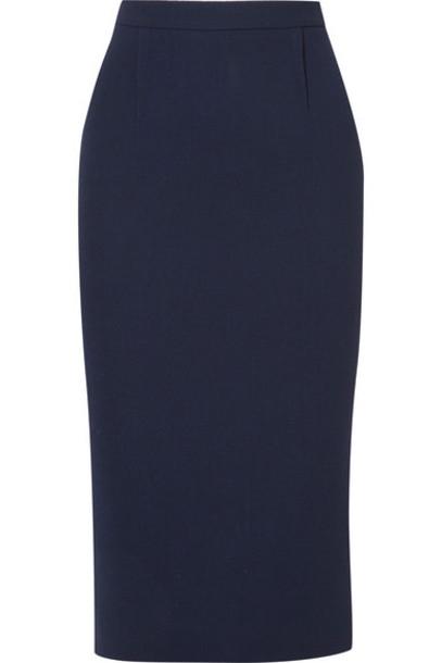 Roland Mouret skirt pencil skirt navy wool