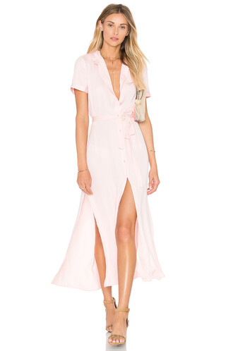 dress shirt dress maxi blush