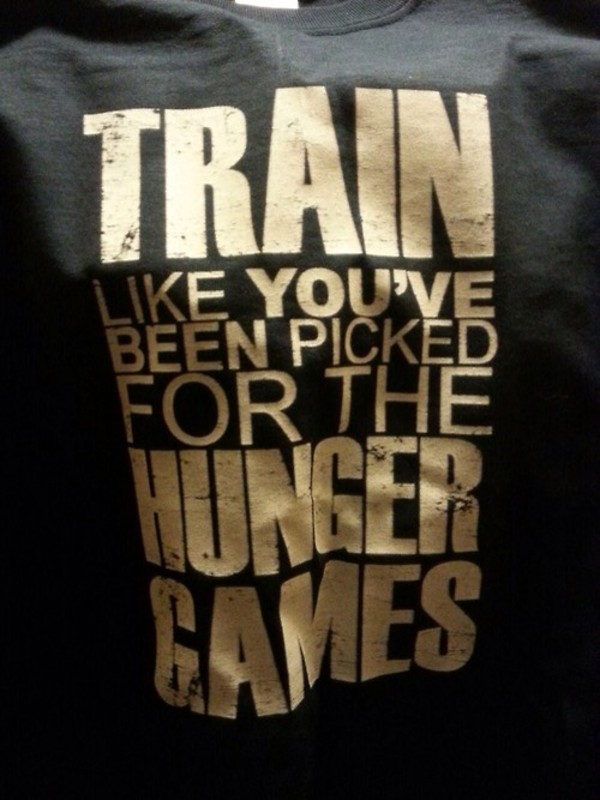 shirt train workout sportswear sportswear the hunger games training clothes