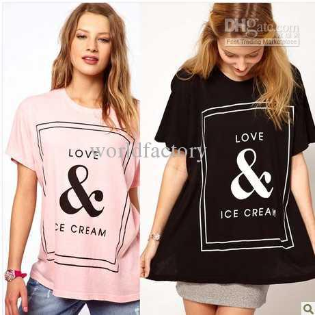 Buy summer love ice cream women t