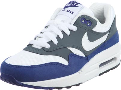 Un fiel Intento calibre  Nike Air Max 1 Youth GS chaussures bleu gris blanc