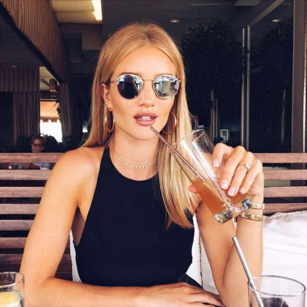 Top: instagram, sunglasses, rosie huntington-whiteley ... Rosie Huntington Whiteley Instagram