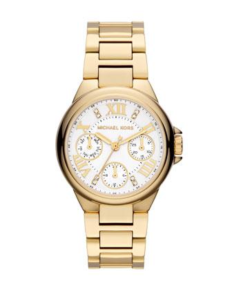 Michael Kors  Mini Golden Stainless Steel Camille Chronograph Glitz Watch - Neiman Marcus