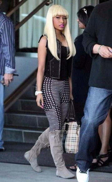 pants nicki minaj shoes bag hat