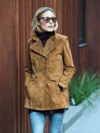 sunglasses olivia palermo fall outfits fall jacket suede jacket