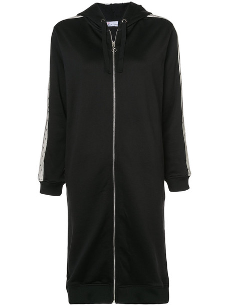 RED VALENTINO coat long zip women black