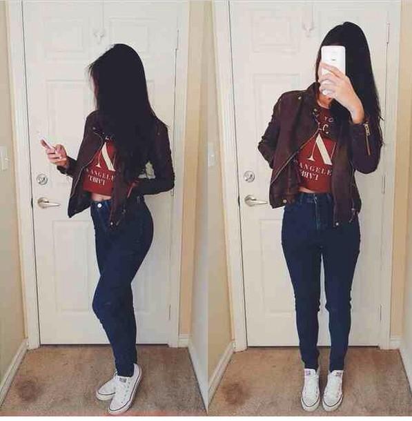 jacket jeans top