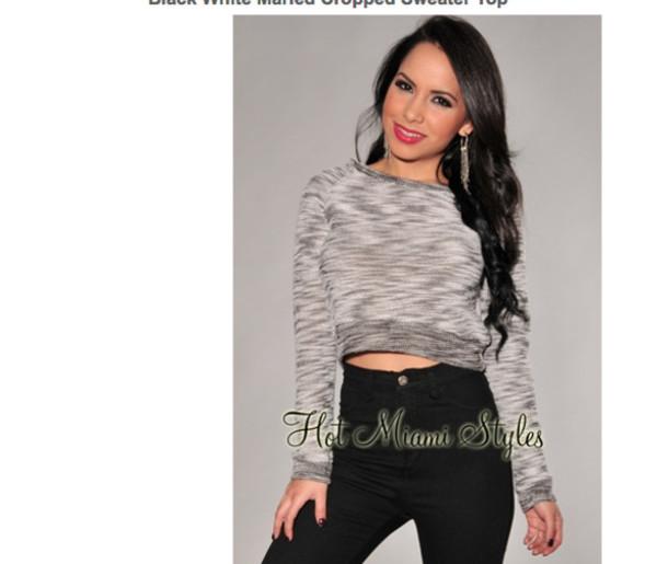 shirt long sleeves crop tops grey