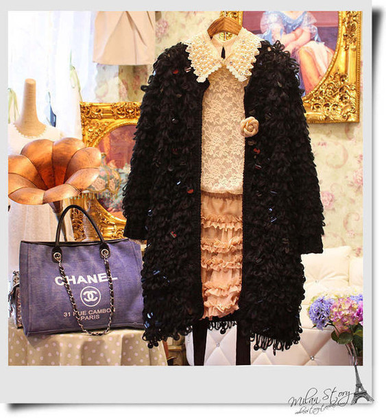 coat wool hippocampus lovely coat dress bling bling sweater jacket sequin dress sweater winter sweater oversized sweater