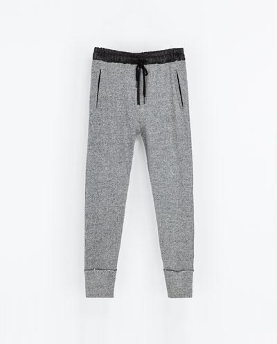 Pantaloni felpa grigia