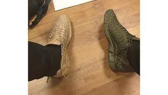 shoes green awesome! brown sneakers woven shoes