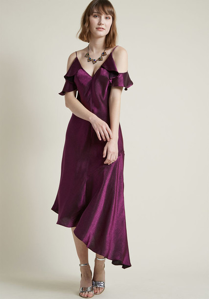 Modcloth dress slip dress purple
