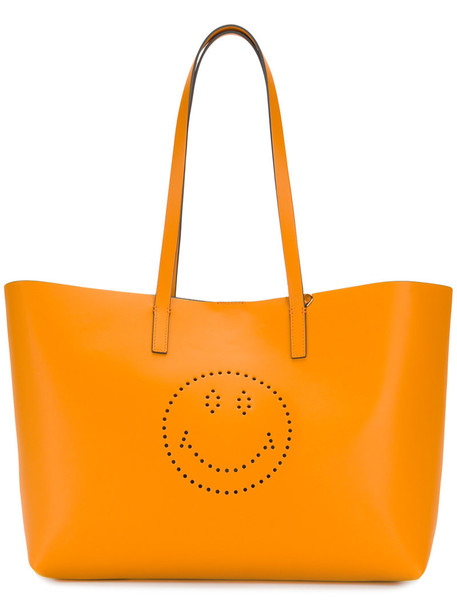 Anya Hindmarch women bag tote bag leather yellow orange