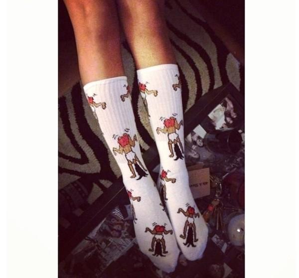 underwear socks ankle socks white twerk twerk huf socks cozy warm