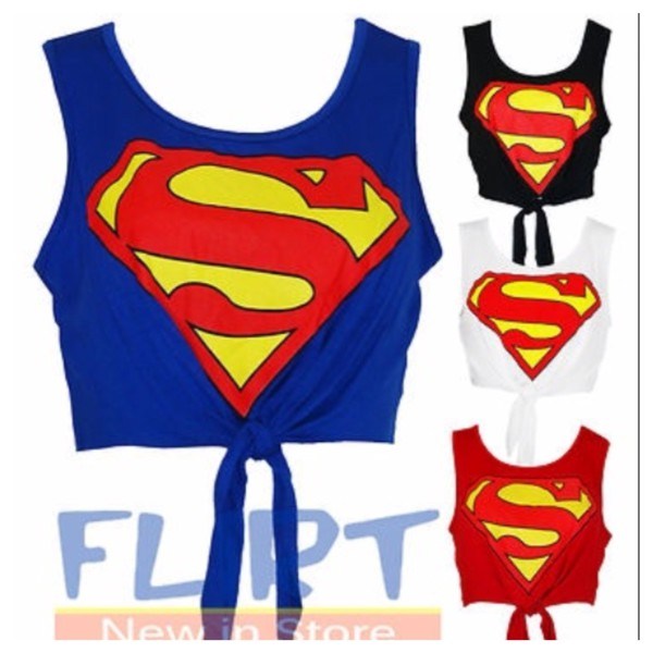 super man crop top