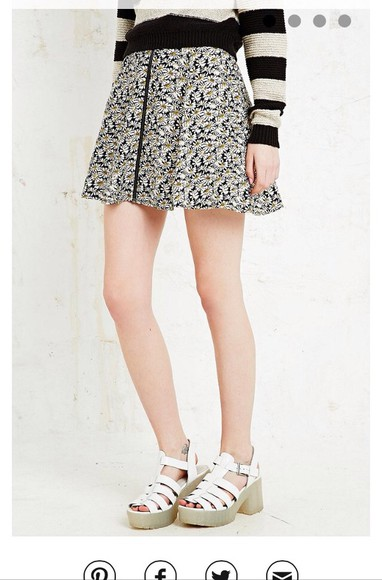 urban outfitters skirt flowers girly