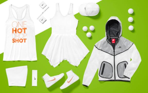 67a5c9254351 dress tennis drop shot tennis dress tennis shoes nike summer 2014 cap jacket  gold white orange