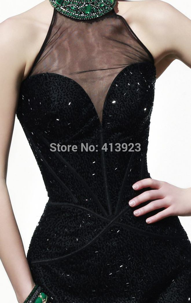 Aliexpress.com : Buy 2014 Beaded Collar Wrapped Haltered Sheered Sweetheart Cocktail Dress from Reliable dress funny suppliers on Chaozhou City Xin Aojia dress Factory