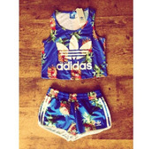 top,adidas,adidas tracksuit clothes top pants,tracksuit,pineapple,two-piece,flowered shorts,blue shorts,shorts,floral tank top,blue shirt,adidas shirt,urban outfitters,lingerie set,flower shirt,jumpsuit