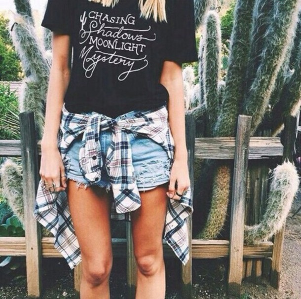 t-shirt blouse shorts