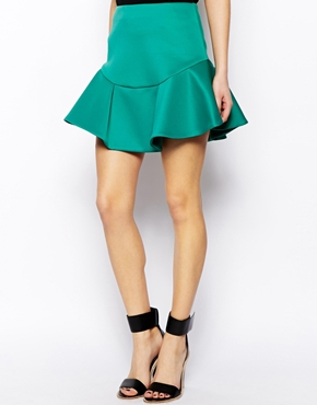 Asos mini skirt in flippy scuba at asos