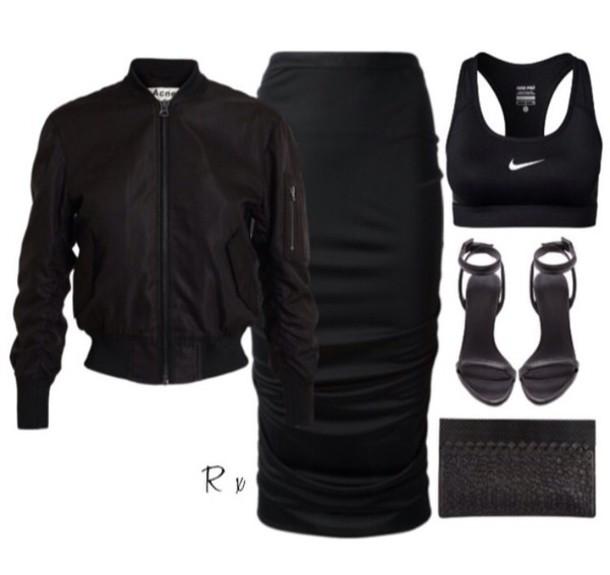 jacket skirt shoes top crop tops