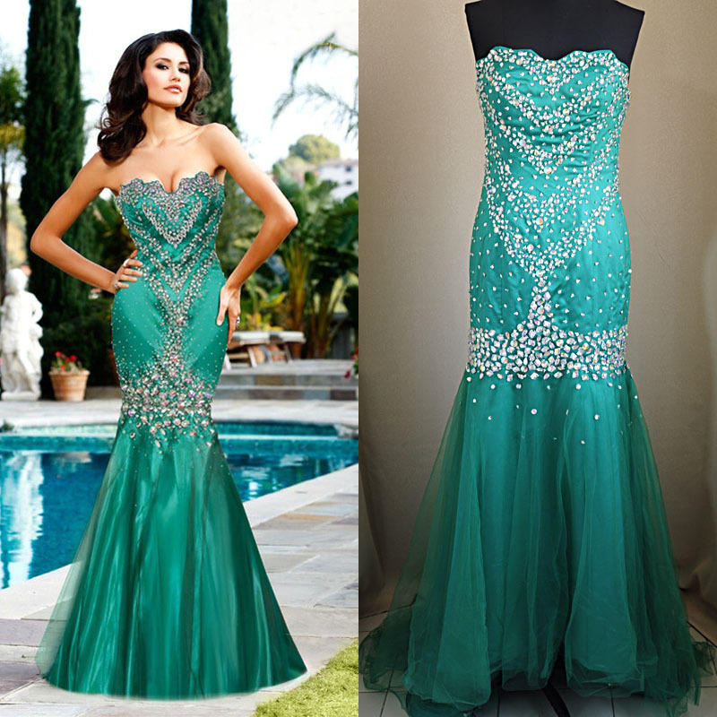 Aliexpress.com : Buy Custom Made Elegant Sheath Beaded Evening Dress 2013 Long Sweetheart Mermaid Prom Dress Free Shipping from Reliable dress women suppliers on 27 Dress