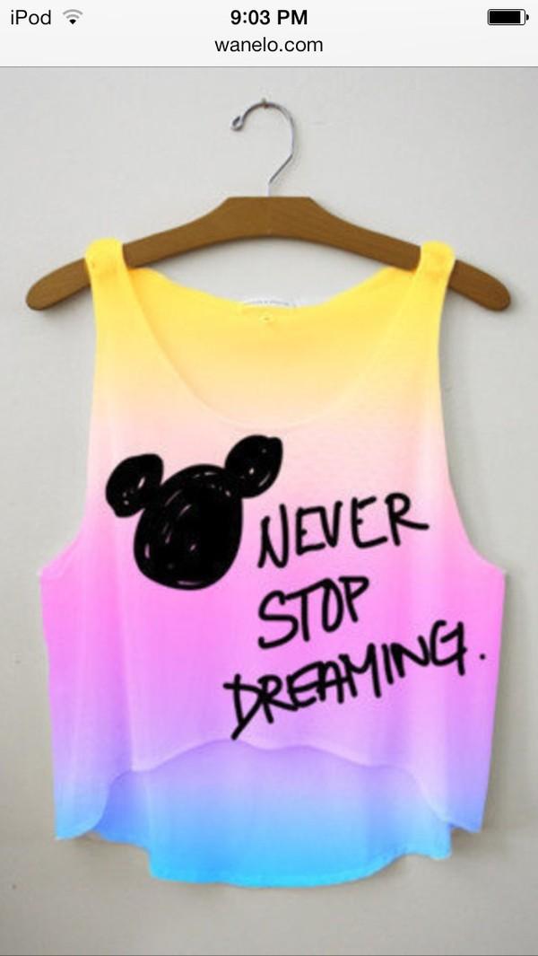 shirt never stop dreaming belt