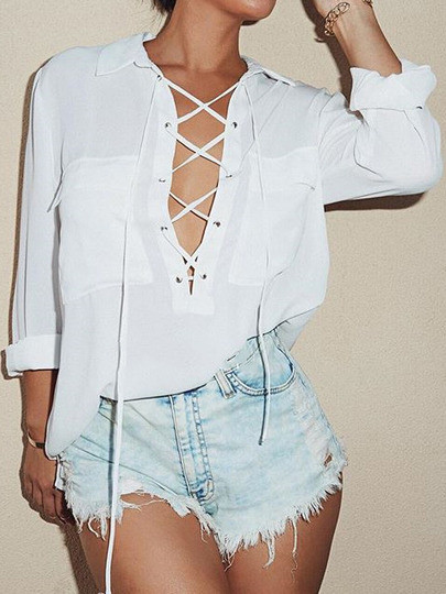 Lace Up Shirt – Outfit Made
