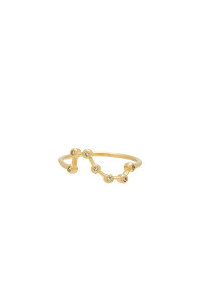 Wanderlust + Co Constellation Ring in gold / metallic