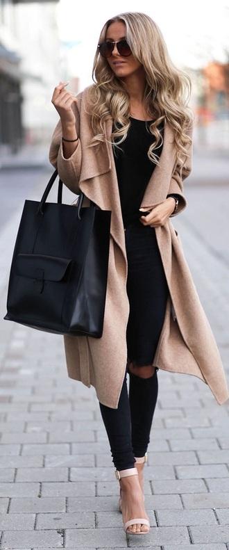 coat beige coat classy beige coat long maxi thick winter