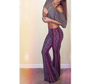 pants amy gaertner hippie hipster gypsy belly shirt