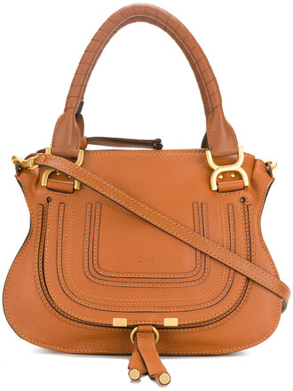 women bag tote bag leather cotton brown