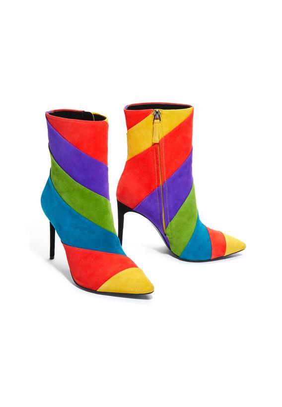 alice + olivia Claudia Rainbow Bootie