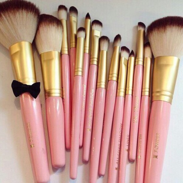 make-up makeup brushes make-up face girly