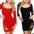 Hot Sale Plus Size Sexy Hollow Out Dress Women Ladies Cutout Bandage Tunic Club Dress Woman Dress Black Red | Amazing Shoes UK