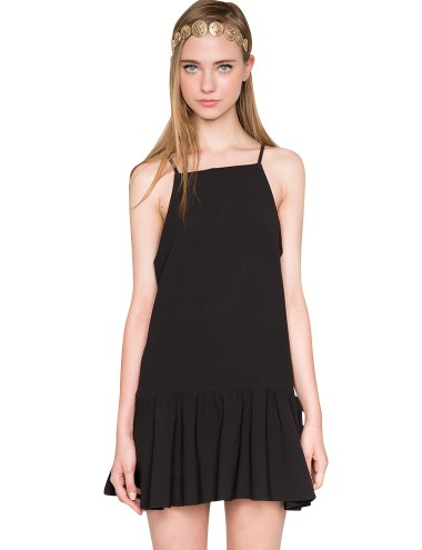 Black Flared  Dress - FIt And Flare Black Dress -$62