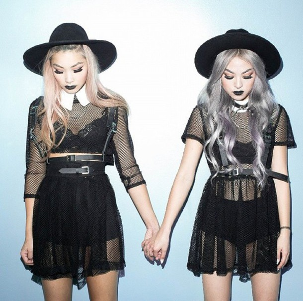 dress black black mesh mesh dress cute black dress pullover pullover dress cute dress punk punk dress fashion style black bra bra bralette belt black belt vintage see through lace dress goth pastel