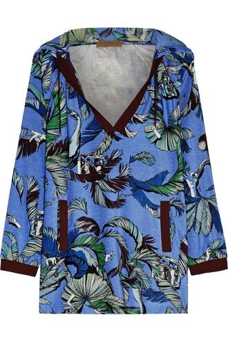 tunic velvet blue top