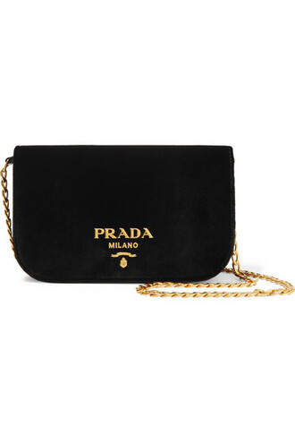 bag shoulder bag black velvet