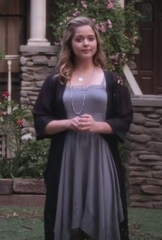dress grey lace asymmetrical sasha pieterse alison dilaurentis pretty little liars