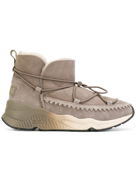 ASH women lace up boots lace nude suede shoes