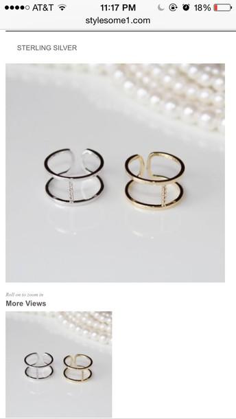 jewels simple h ring minimalist jewelry