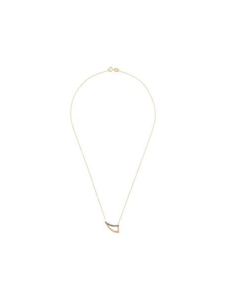 Polina Sapouna Ellis women necklace pendant gold brown grey metallic jewels