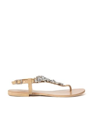 Oasis | Oasis Gem Stone Flat Sandals at ASOS