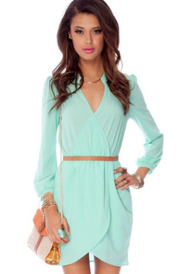 dress short dress mint dress mint