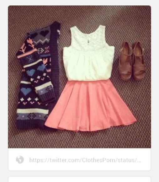 skirt pink shoes pink dress cute dress cute cardigan shirt sweater
